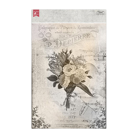 Decoupage Papers A4 - Melody Blooms 2Design x  4sheets