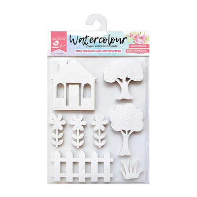 Watercolour Paper Embellishments - Country Side, 8pc