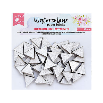 Water Colour Paper Bricks - Triangle 50Pc