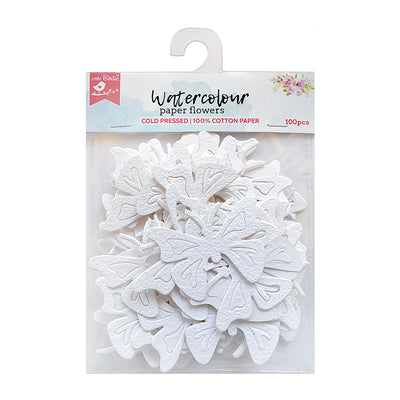 Butterflies & Dragonflies White 100Pc