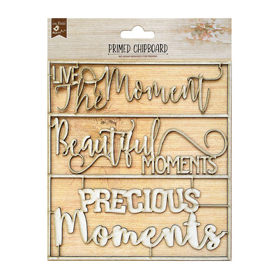 Chipboard Sentiments - Memorable Moments 1pc