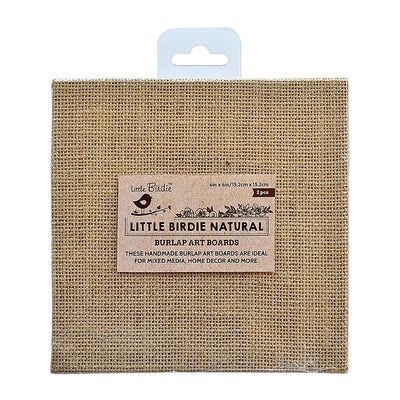 Burlap MDF Panel 6in X 6in 2Pc
