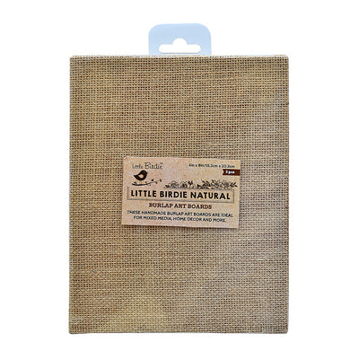 Burlap MDF Panel 6in X 8in 2Pc