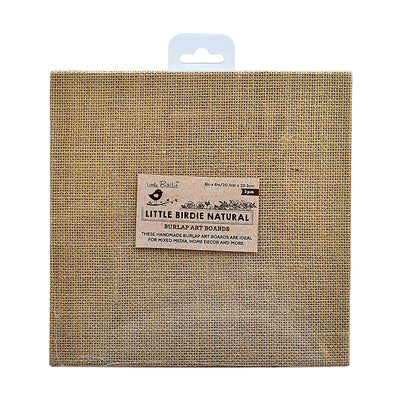 Burlap MDF Panel 8in X 8in 2Pc