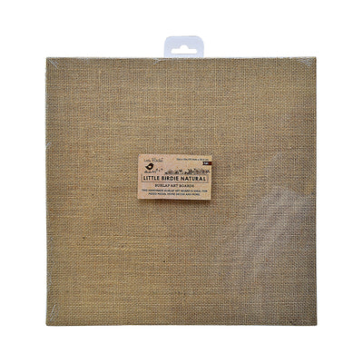 Burlap MDF Panel  12in x 12in 1pc
