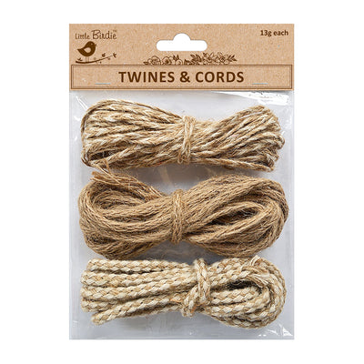 Twines & Cords - Cord 13gm Each 3pc