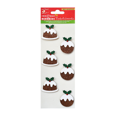 Christmas Glitter Puddings 6pc