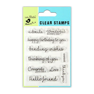 "Clear Stamp Sweet Conversation 3""x4"" 10pc Little Birdie"