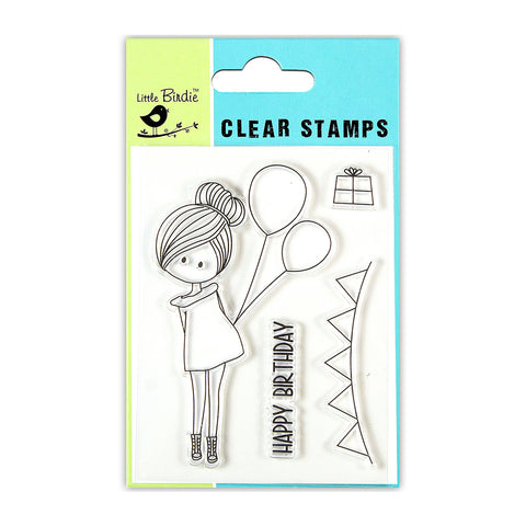 Clear Stamps -  Birthday Wish 3x4 4pc