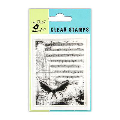 "Clear Stamp Melody Flutter 3""x4"" 1pc Little Birdie"