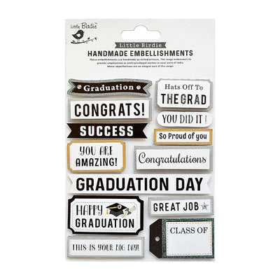 Stickers - Graduation Wishes 13pc Little Birdie
