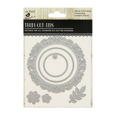 Thin Cut Die- Ornate Frame,4pcs