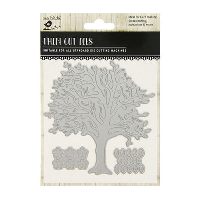 Thin Cut Die- Flowering Tree,3pcs