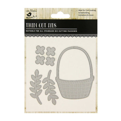 Thin Cut Die- Flower Basket,7pcs