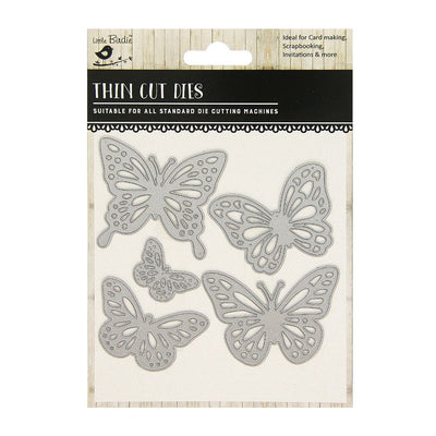 Thin Cut Die- Butterfly Medley,5pcs
