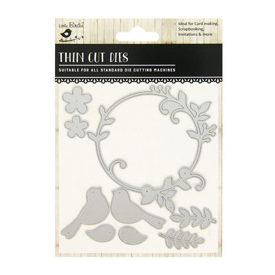 Thin Cut Die- Blooming Wreath,9pcs
