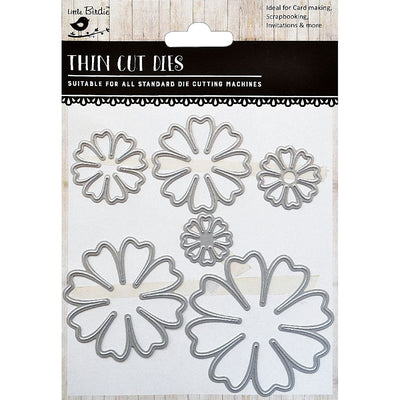 Thin Cut Die- Florabelle,6pcs