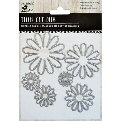 Thin Cut Die- Daisy Field,6pcs