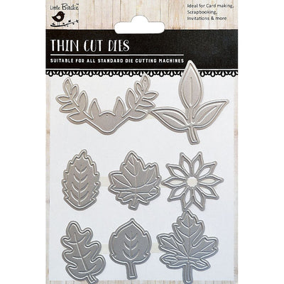 Thin Cut Die- Leaf Melange,8pcs