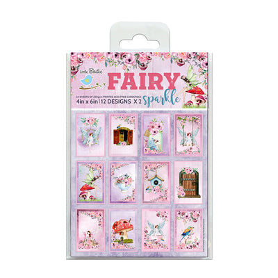 Journaling Cards 4in x 6in 12desx2 Fairy Sparkle 24sheets Little Birdie