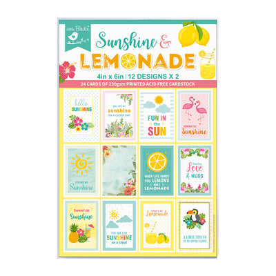 Journaling Cards 4in x 6in 12desx2 Sunshine And Lemonade 24sheets Little Birdie