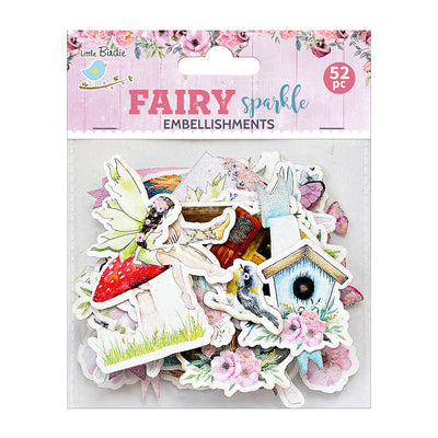 Ephemera Fairy Sparkle Embellishments 52pc Little Birdie