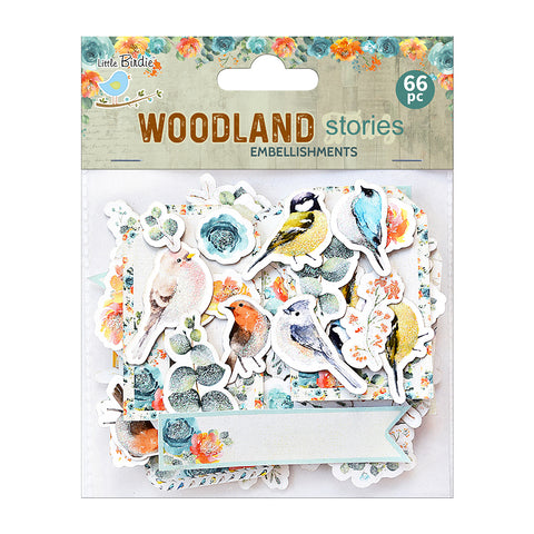 Ephemera Woodland Stories 66pc Embellishments Little Birdie