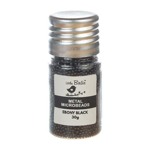 Metal Microbeads Ebony Black 30g Little Birdie