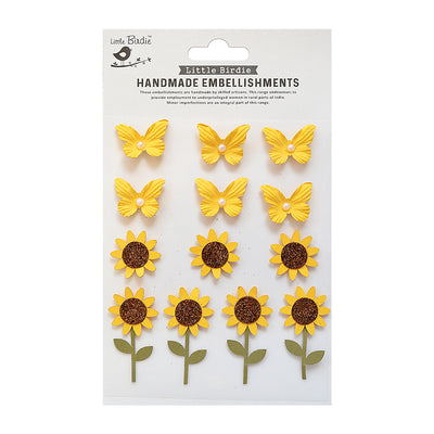 Self Adhesive Stickers - Blooms & Butterflies Sunny Delight 13pc