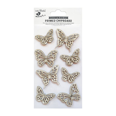 Chipboard Butterflies 8pc Little Birdie