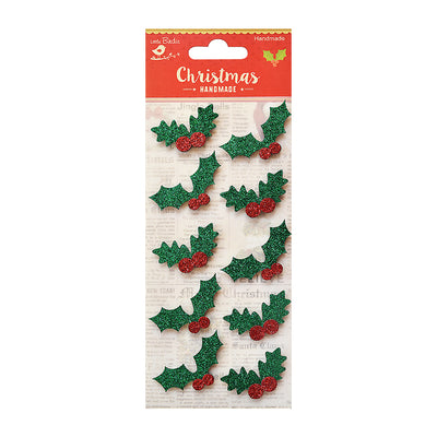 Holly Berry Self Adhesive Sticker - 10pc