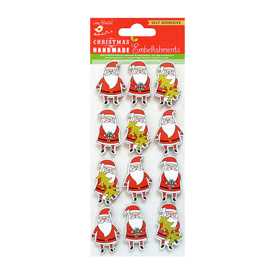 Christmas Embellishments - Santa, 12pc
