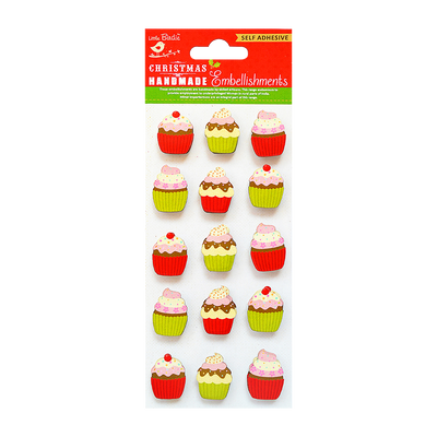 Christmas Embellishments - Cupcakes 15pc