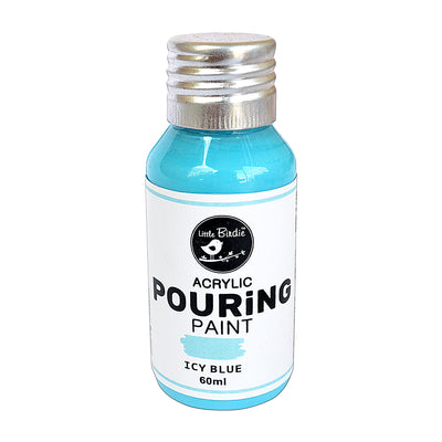 Acrylic pouring Paint Icy Blue 60ml Little Birdie