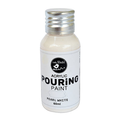 Acrylic pouring Paint Pearl White 60ml Little Birdie