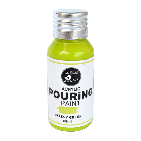 Acrylic  pouring Paint Grassry Green 60ml Little Birdie