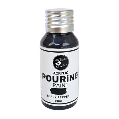 Acrylic pouring Paint Black Pepper 60ml Little Birdie