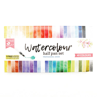 Water Colour Half Pan Set 48 Colour Little Birdie