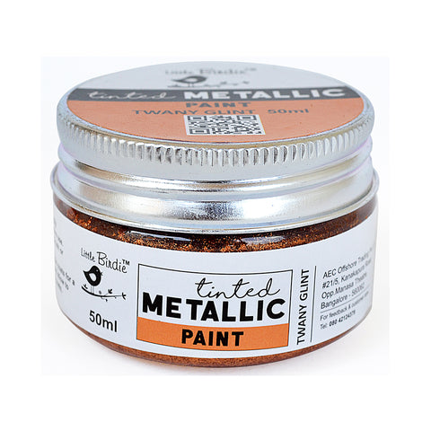 Tinted Metallic Paint Tawny Glint 50ml Little Birdie