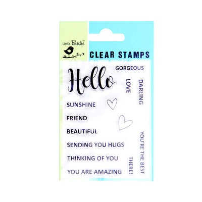 Clear Stamps - Thinking of you 14pc Little Birdie