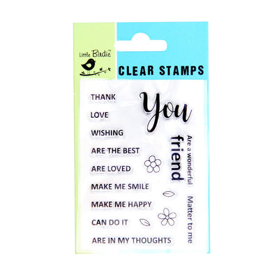 Clear Stamps - For you 16pc Little Birdie
