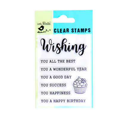 Clear Stamps - Wonderful Wishes 8pc Little Birdie