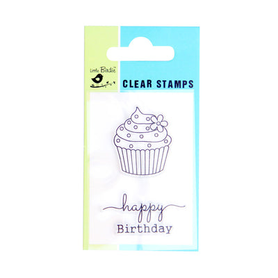 Clear Stamps - Birthday Treat 3pc Little Birdie