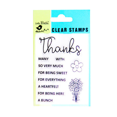 Clear Stamps - Thanks a bunch 11pc Little Birdie