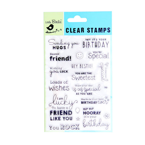 Clear Stamps - Loads of wishes 19pc Little Birdie