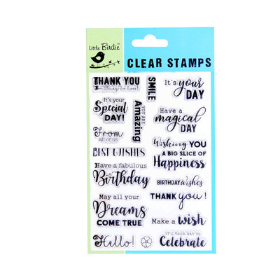 Clear Stamps - Make a wish 17pc Little Birdie