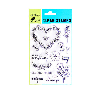 Clear Stamps - Love always 16pc Little Birdie