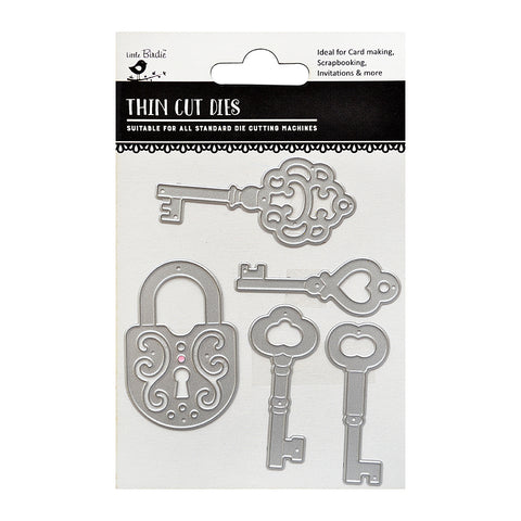 Thincut Dies - Lock & Key 5pc Little Birdie