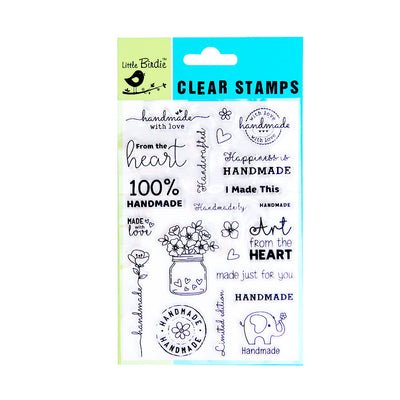 Clear Stamps - Handmade with Love 22pc Little Birdie