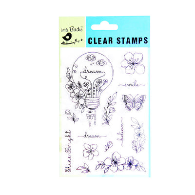 Clear Stamps - Shine Bright 14pc Little Birdie